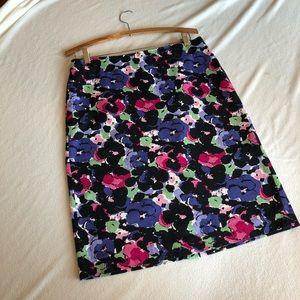 Floral Talbots Pencil Skirt